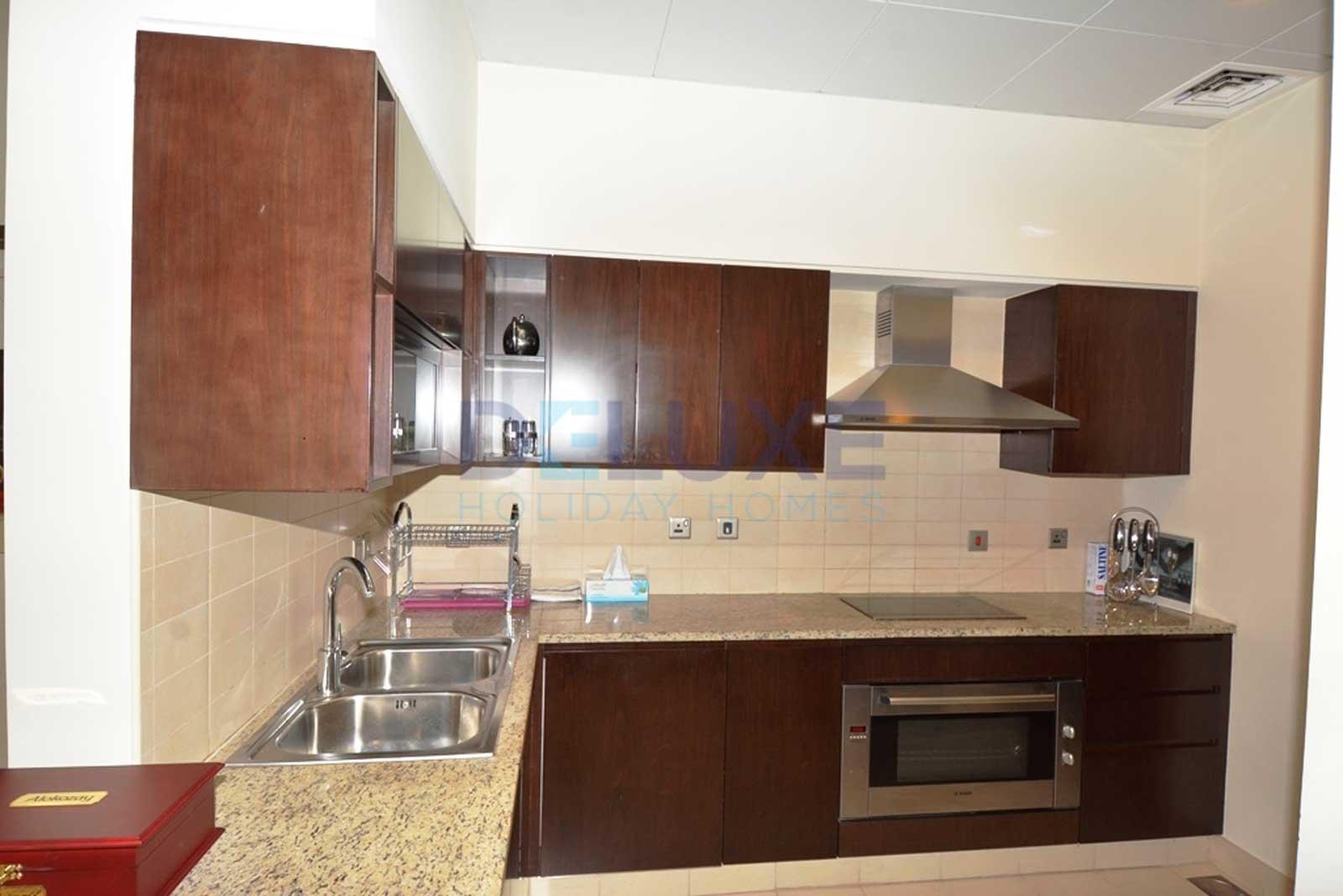 Tiara Residences - Kitchen - Dubai Holiday Home