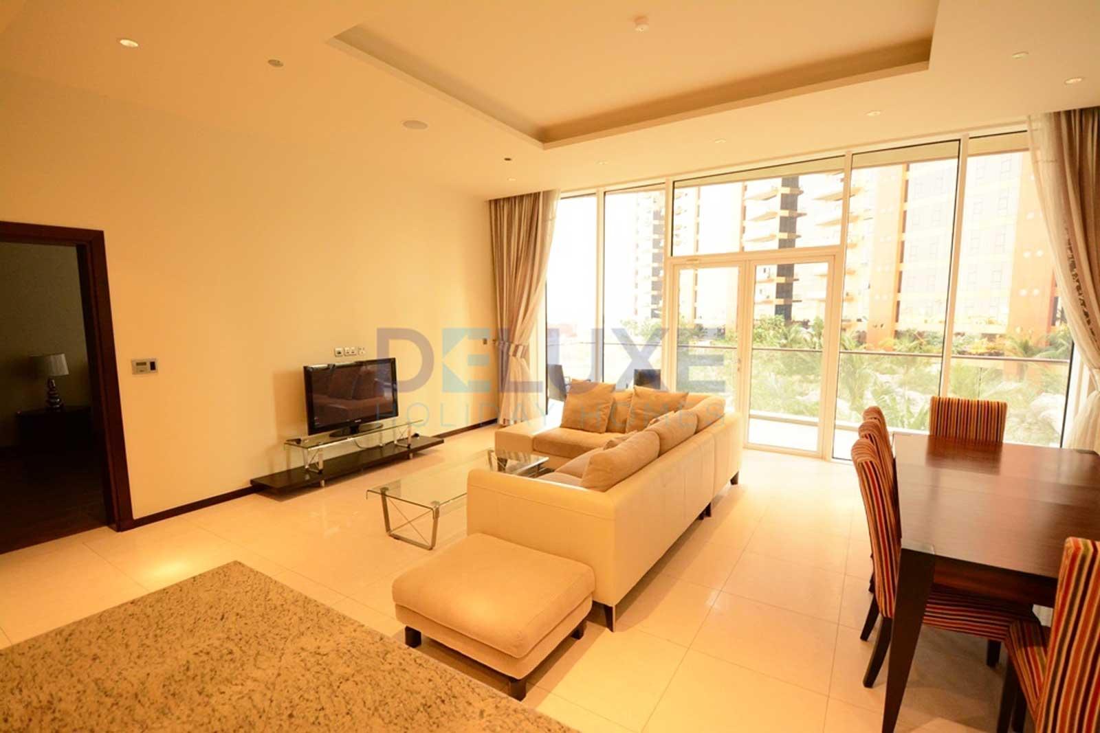 Tiara Residences - Living Room - Dubai Holiday Home