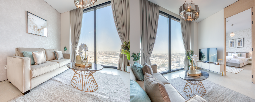 a serviced apartment located in Jumeirah Gate Tower
