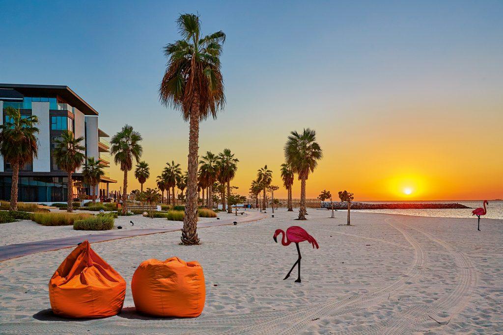 sunset shot at the Jumeirah Beach Residence