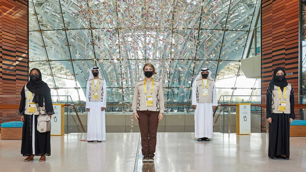 Volunteers at the EXPO 2020