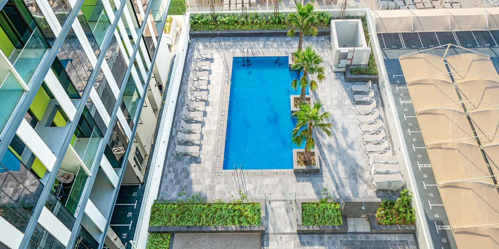 Outdoor Pool at The Pulse Residence